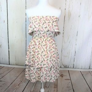 Maurices Mini Dress Floral tiered Ruffle Boho